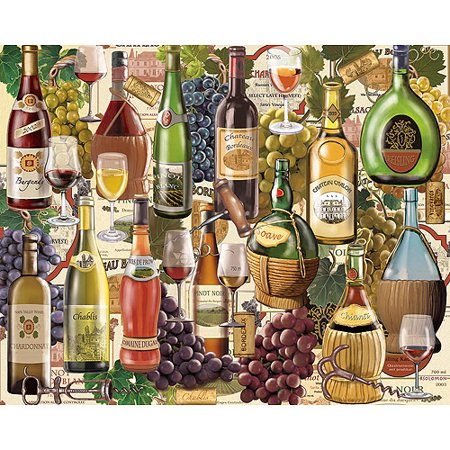 White Mountain Puzzles Wine Jigsaw Puzzle, 1000-pieces