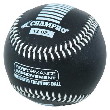 CHAMPRO SPORTS® Weighted Colored Training Leather (Black Leather Baseball)