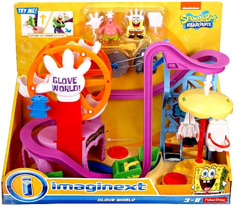 "Fisher Price Spongebob Squarepants IMaginext Glove World 2"" Playset by"