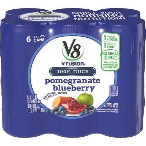 (24 Pack) V8 Pomegranate Blueberry, 8 oz., 6 pack