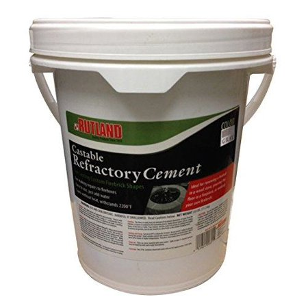 - Rutland Products 601 Rutland Castable Refractory Cement, 25 LB