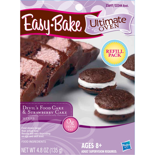 Easy-Bake Ultimate Oven Devil's Food Cake and Strawberry Cake Mix
