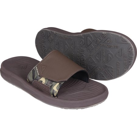 Quiksilver Mens Travel Oasis Slide Sandals - Brown