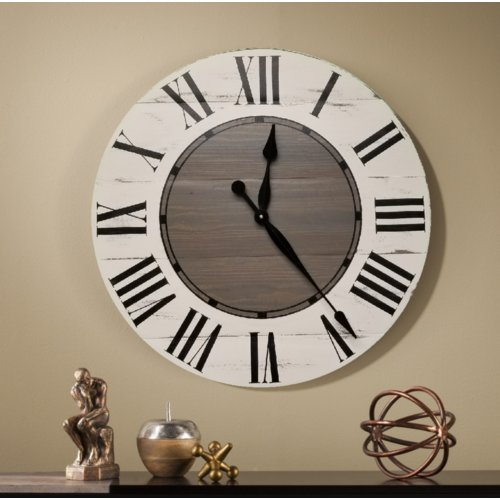 Gracie Oaks Vanwagoner Farmhouse Wall Clock