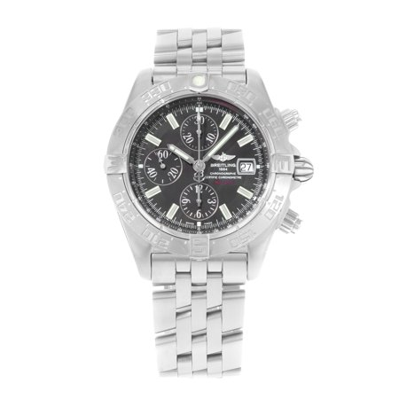 Pre-Owned Breitling Galactic Gray Sticks Dial Steel Automatic Mens Watch A1336410/M512-379