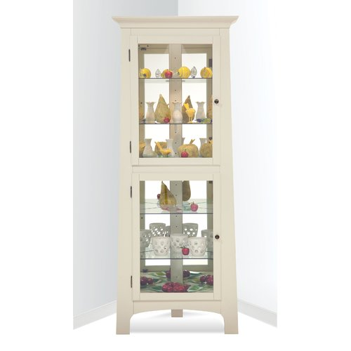 Red Barrel Studio Westview Lighted Corner Curio Cabinet