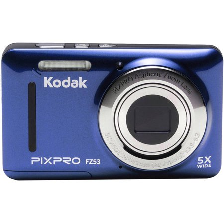 Refurbished Kodak FZ53-BL Point and Shoot Digital Camera with 2.7