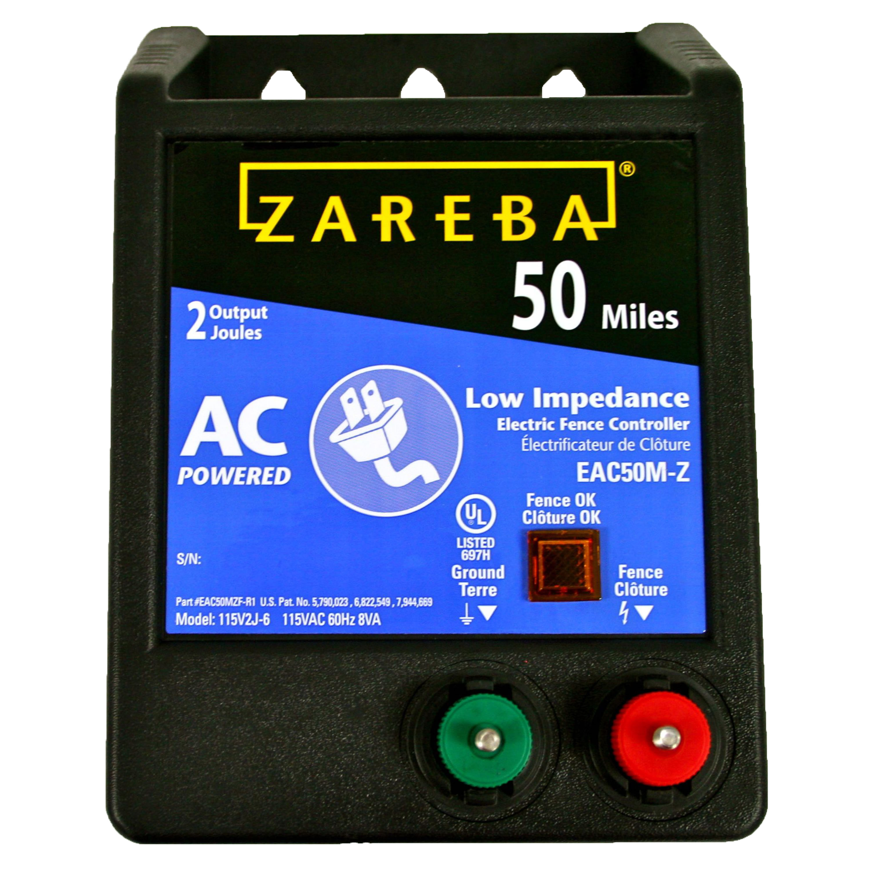 Zareba AC-Powered Low-Impedence 50-Mile-Range Electric Fence Charger