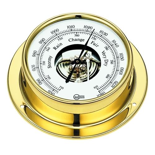 "Barigo Tempo Series Ship's Barometer - Brass Housing - 3.3"" Dial 183MS"