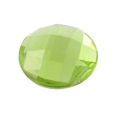 Unique Bargains Bling Plastic Crystal Home Button Sticker Green for Apple iPhone 5 4 4S 3GS