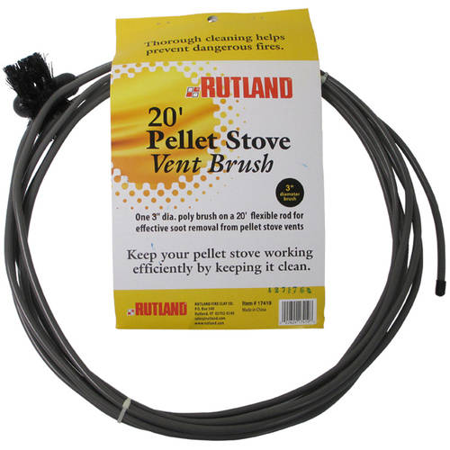 """3"""" Pellet Stove Dryer Vent Brush With 20' Flexible Handle by Rutland Products"""