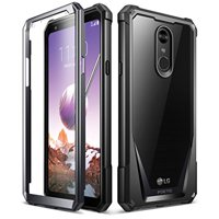 Poetic Guardian [Scratch Resistant Back] [360 Degree Protection]Full-Body Rugged Clear Hybrid Bumper Case with Built-in-Screen Protector for LG Stylo 4 Black