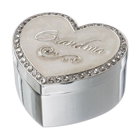 Grandma Jeweled Heart Jewelry Trinket Keepsake Box 13989 Love Family Decoration
