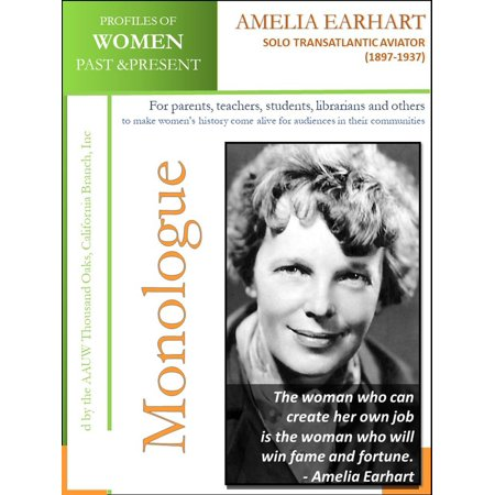 Profiles of Women Past & Present – Amelia Earhart, Solo Transatlantic Aviator (1897-1937) - - Amelia Earhart Costume For Girls