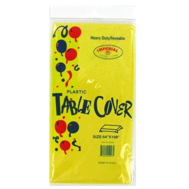 Deluxe Import Trading 4-S24003 Yellow Table Cloth - 72 Packs