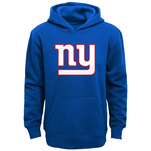 New York Giants Youth Primary Logo Team Color Fleece Pullover Hoodie - Royal Blue