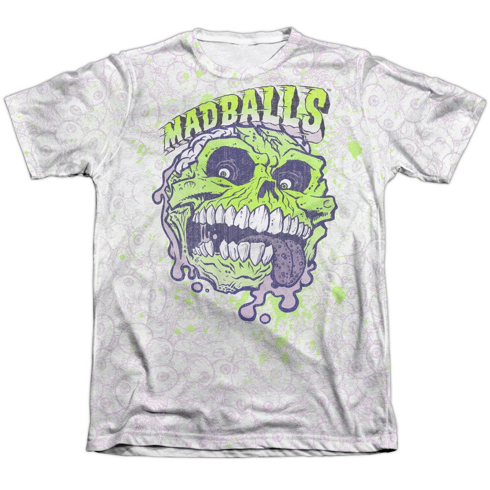 Madballs Grime Time Mens Sublimation Shirt WHITE MD
