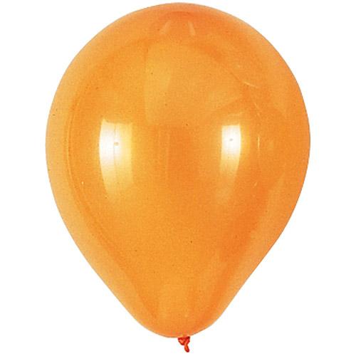 9'' Round Helium Quality Balloons - 25-Pack, Orange