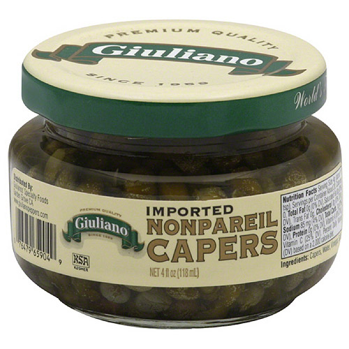 Giuliano Imported Nonpareil Capers, 4 fl oz, (Pack of 12) by Generic