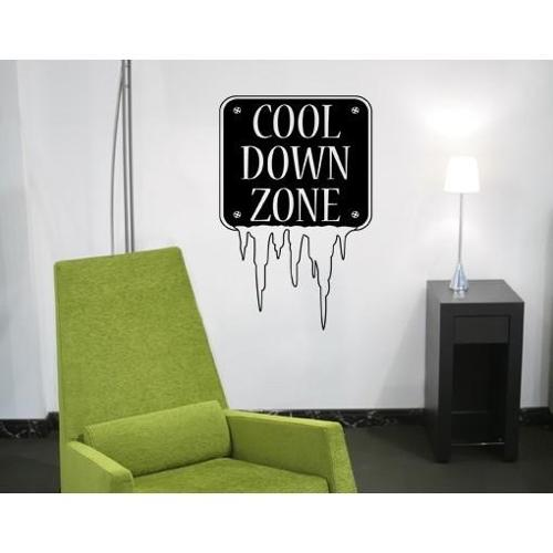 Cool Down Wall Decal Vinyl Art Home Decor White 28in x 46in