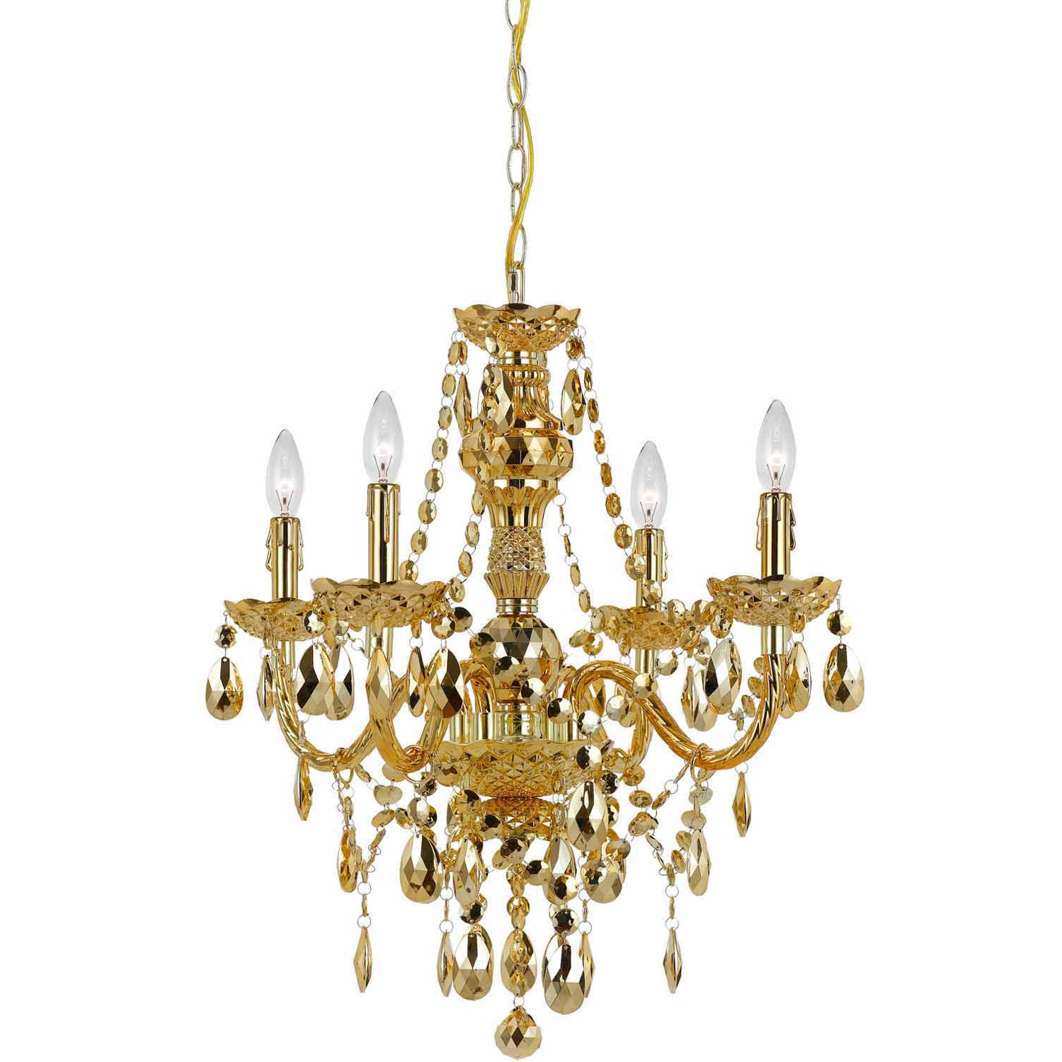 AF Lighting Naples 4-Light Mini Chandelier, Metallic Iridescent Smoke by AF Lighting
