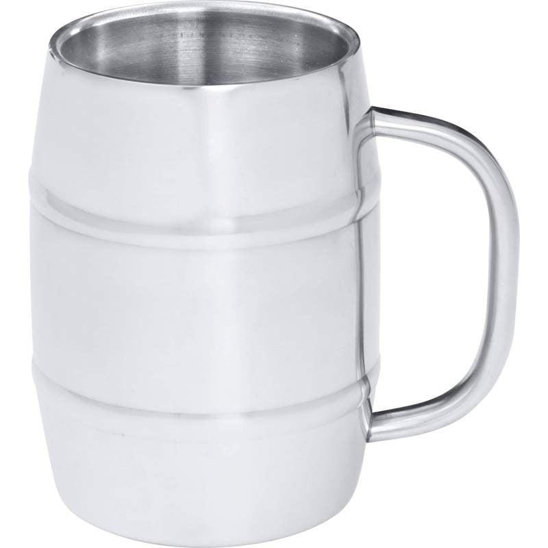 Arctic Blast 34oz Barrel-Shaped Stainless Steel Beer Mug by Supplier Generic
