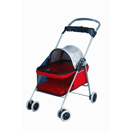 BestPet Cute Red Posh Pet Stroller Dogs Cats W/Cup