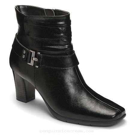 Women's A2 by Aerosoles Common Ground Ankle Boots - Black 6.5 M