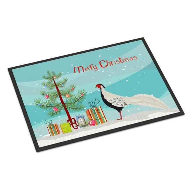 Carolines Treasures BB9296MAT Silver Pheasant Christmas Indoor or Outdoor Mat, 18 x 27 in. - image 1 of 1