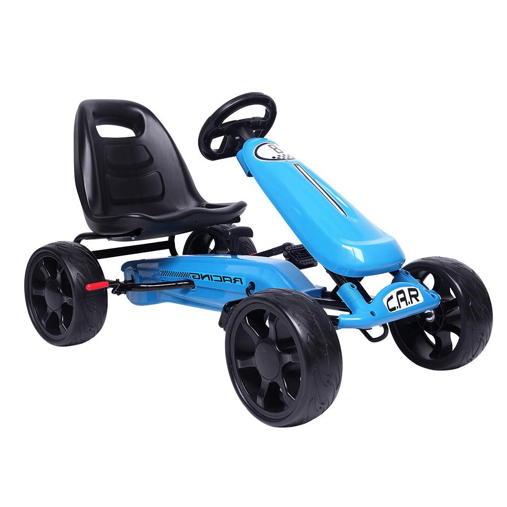 Ktaxon Go Kart Kids Ride On Car Pedal Powered 4 Wheel Outdoor Toy Blue by