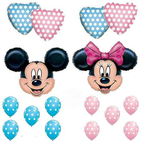 Mickey & Minnie Mouse Gender Reveal Baby Shower Balloons Decorations](Baby Shower Minnie Mouse)