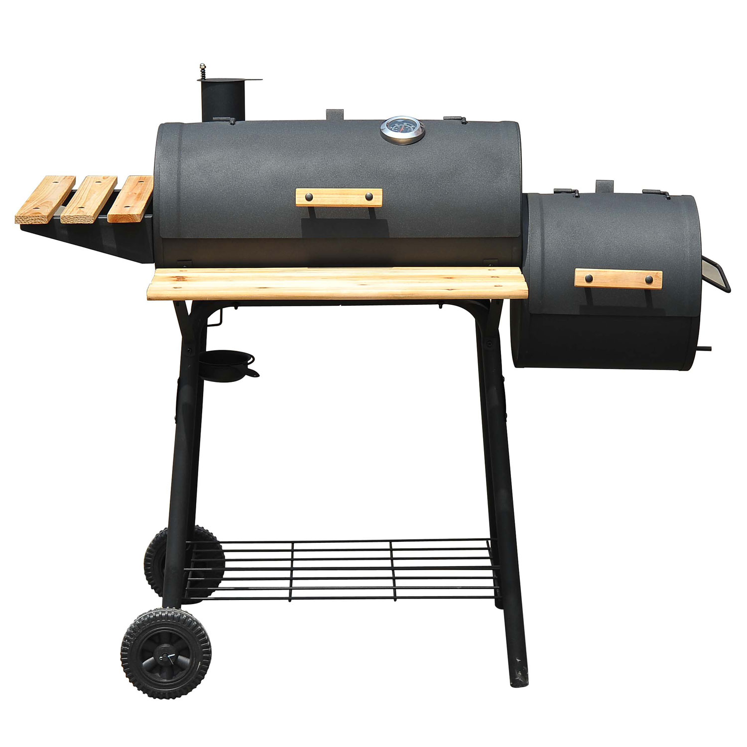 Outsunny Barbeque Charcoal Grill Offset Smoker Combo