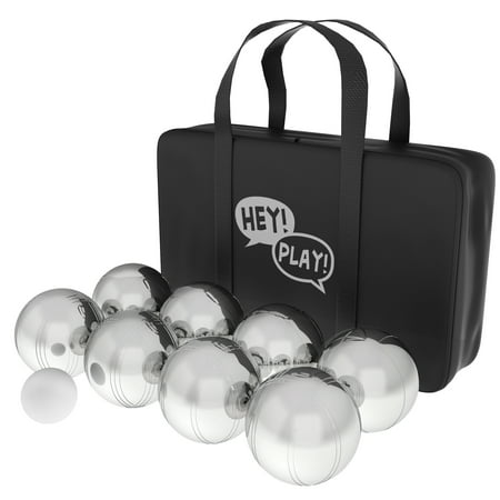 Petanque / Boules, Steel Bocce Ball Set by Hey! Play! for $<!---->