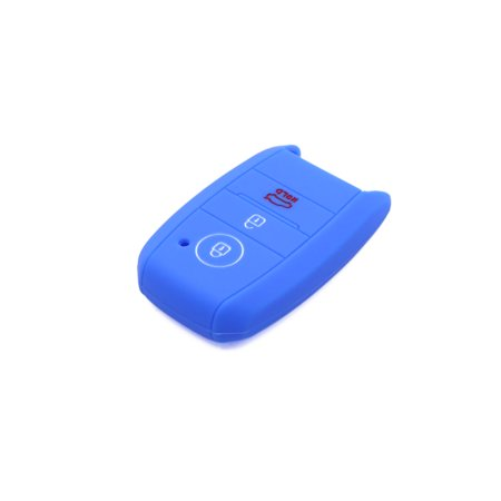 Sea Blue Silicone Three Button Car Remote Key Cover Case Protective for Kia - image 1 de 5