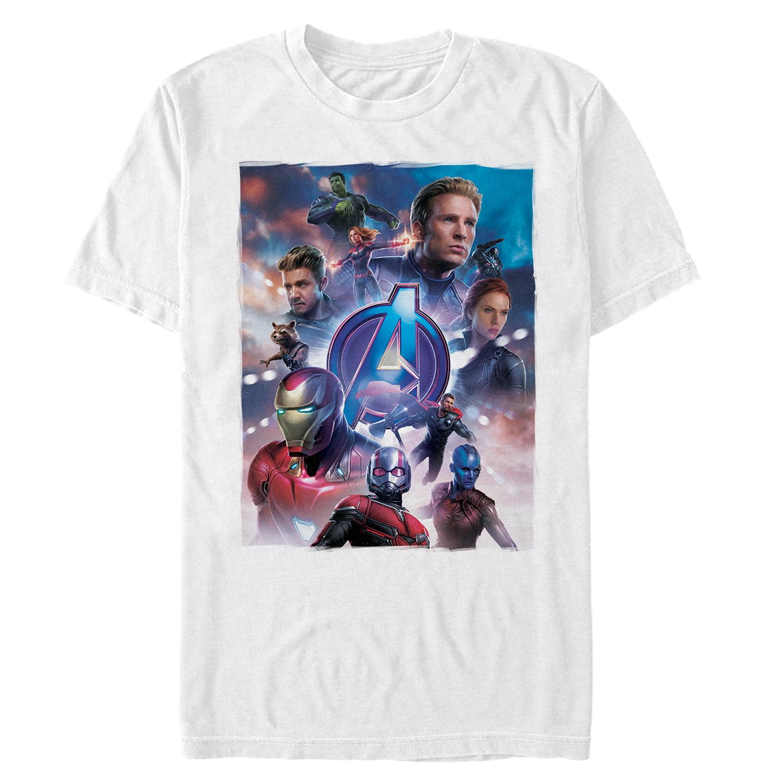 Marvel Avengers Endgame Iron Man Space Poster T-Shirt