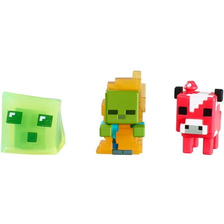 Mattel Minecraft Mini 3-pk Asrt](Black Skin Minecraft)