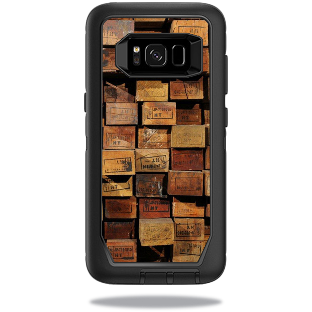 MightySkins Protective Vinyl Skin Decal for OtterBox DefenderSamsung Galaxy S8 Case sticker wrap cover sticker skins Stacked Wood