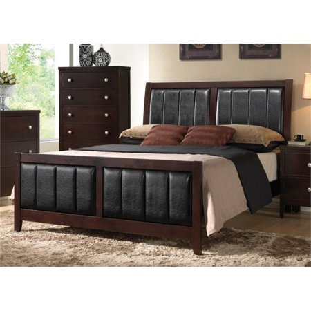 Cappuccino Cal King Bed (Bowery Hill Upholstered King Panel Bed in Cappuccino )