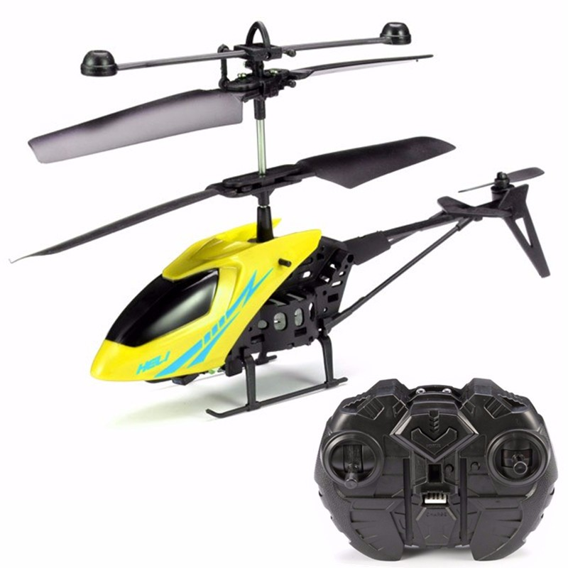 2.5CH LED Mini Infrared RC Helicopter Aircraft RC Drone with Gyro+ Remote Control Kids... by