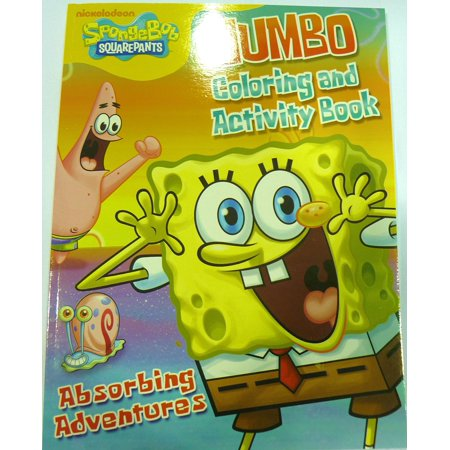 Jumbo Coloring & Activity Book, Includes Spongebob and all his friends! By SpongeBob SquarePants,USA - Spongebob Coloring Pages Halloween