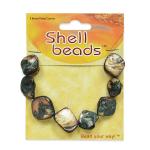 Natural Slate Water Wall - Expo Int'l Tinted Shell Chunk Beads - Slate - 8 pcs.