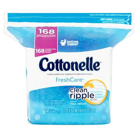 Cottonelle Fresh Care Flushable Moist Wipes  168 Ct