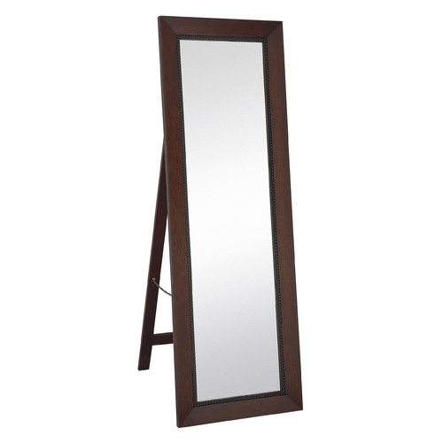 Majestic Mirror Classic Contemporary Rectangular Mahogany Full length Standing Floor Mirror