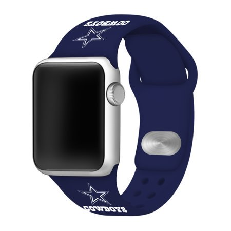 GAME TIME Dallas Cowboys Silicone Sport Band Compatible with Apple Watch - 38/40mm Navy (Cowboys Dynasty Watch)