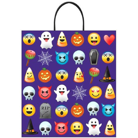 Easy Treats For Halloween (Emoji Halloween Treat Loot Party Tote Bag 16