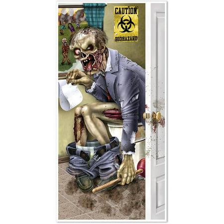 Beistle Zombie Restroom Door Cover - Beistle Die Cut Halloween