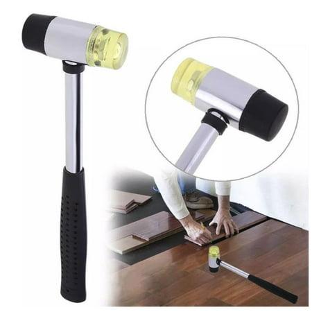 Fibreglass 25MM Small Rubber Nylon Head Soft Face Mallet Hammer Handle Tool Shaft (Nylon Tenor Mallet)