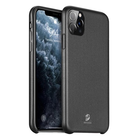 For iPhone 11 Pro 5.8 Inch ultra-thin matte soft PU anti-shock shockproof phone case Black