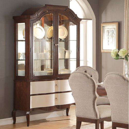 Darby Home Co Daxten Lighted China Cabinet Walmart Com