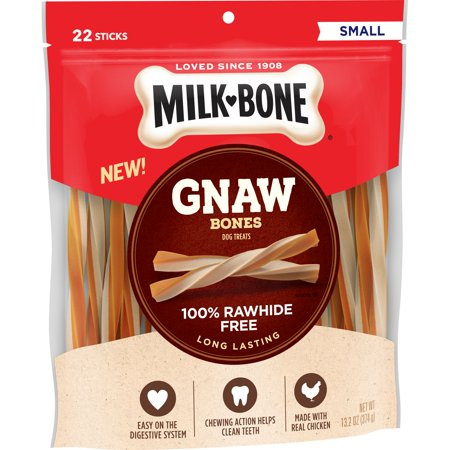 Gnaws Small Bone (Milk-Bone GnawBones Chicken Sticks, Rawhide-Free, 13.2)